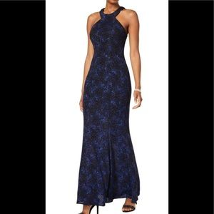 Formal Dress Size 10 Blue Empire Glitter💥NEW Prom